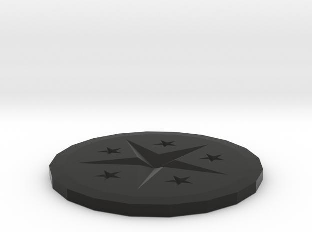 Coaster in Black Strong & Flexible: Medium