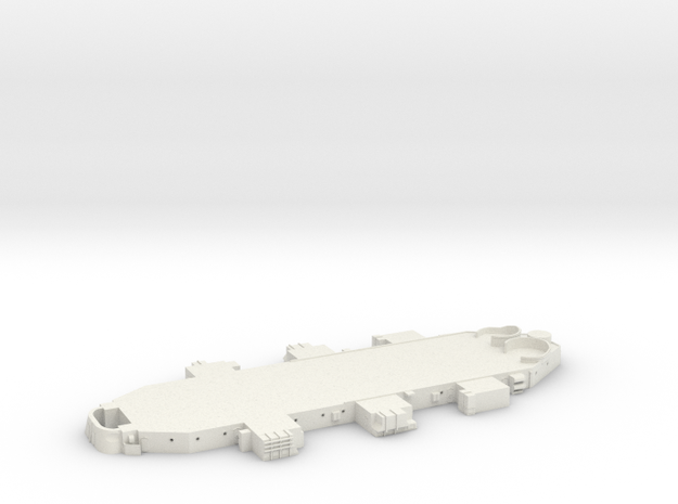 Best Cost 1/192 USN BB59 Superstructure Level 2 in White Natural Versatile Plastic