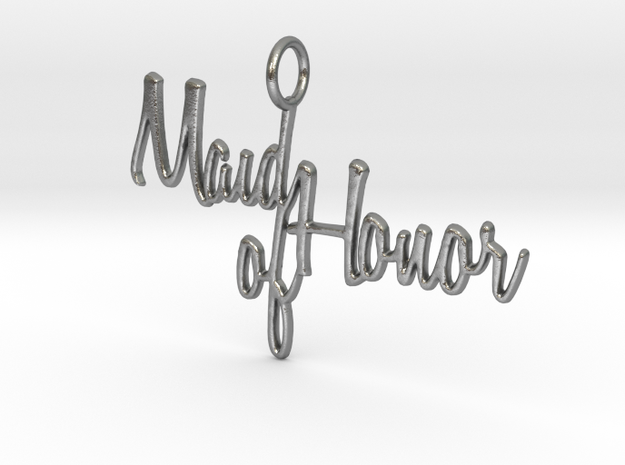 Maid of Honor Pendant in Natural Silver