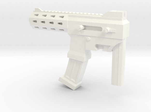 MP size auto machine gun in White Strong & Flexible Polished