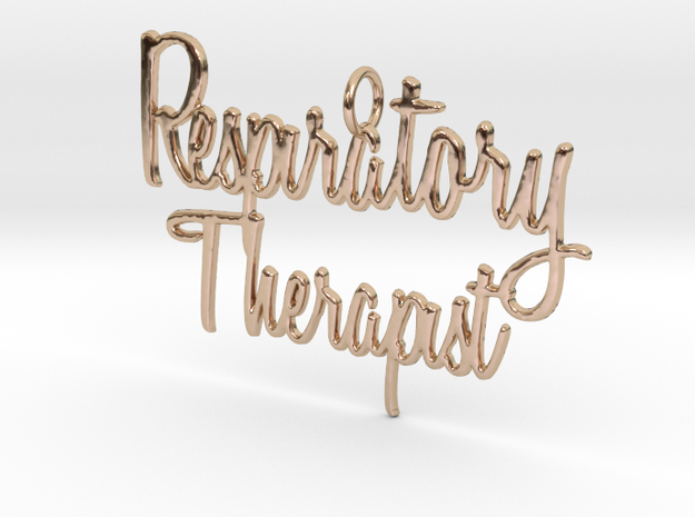 Respiratory Therapist Pendant in 14k Rose Gold Plated Brass