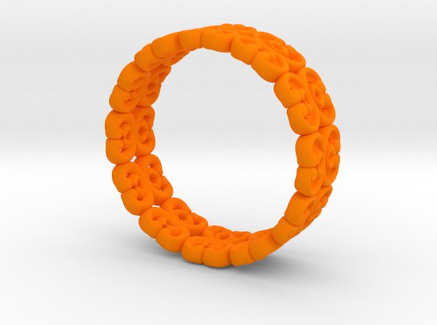 "Bracelet ""Bloom"" in Orange Processed Versatile Plastic: Small"