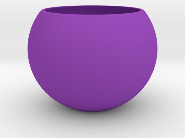 succulent planter pot for liquid ripple base in Purple Processed Versatile Plastic