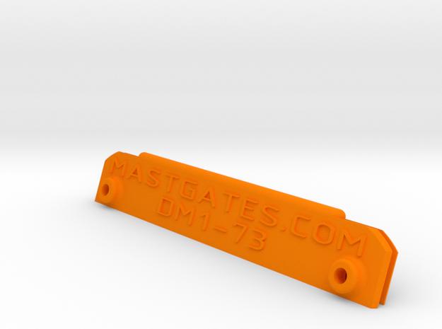 West Wight Potter 15 (Dwyer DM1) MastGate in Orange Strong & Flexible Polished