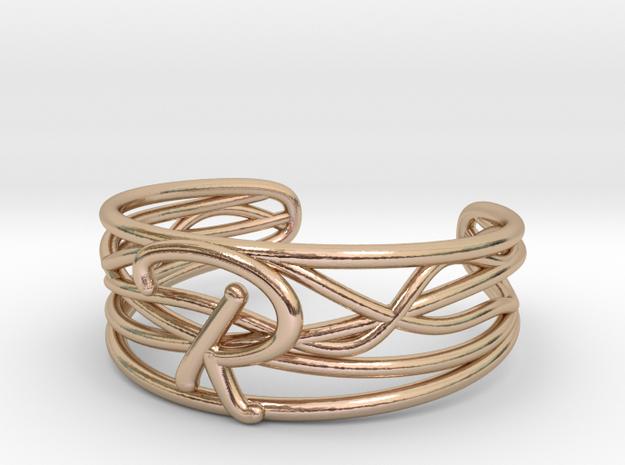 R Ring in 14k Rose Gold