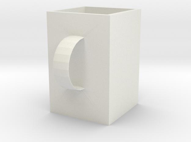 杯子 in White Strong & Flexible: 6mm