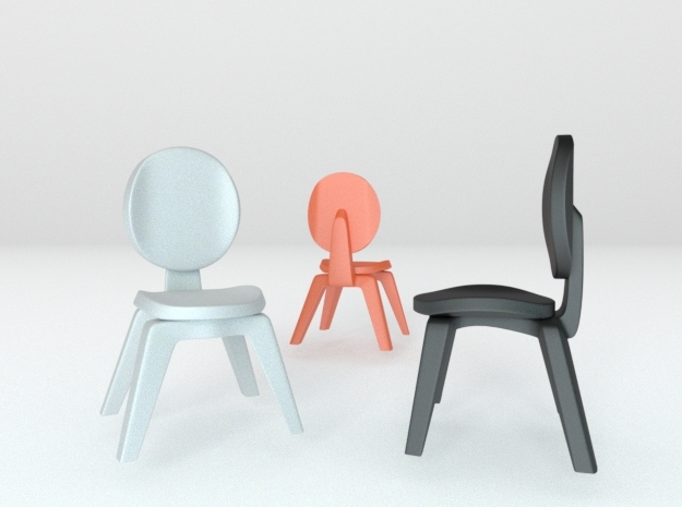 1:22.5 scaled chair 1 in White Processed Versatile Plastic