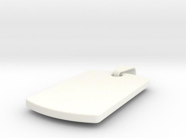 pendant8 in White Processed Versatile Plastic: Small