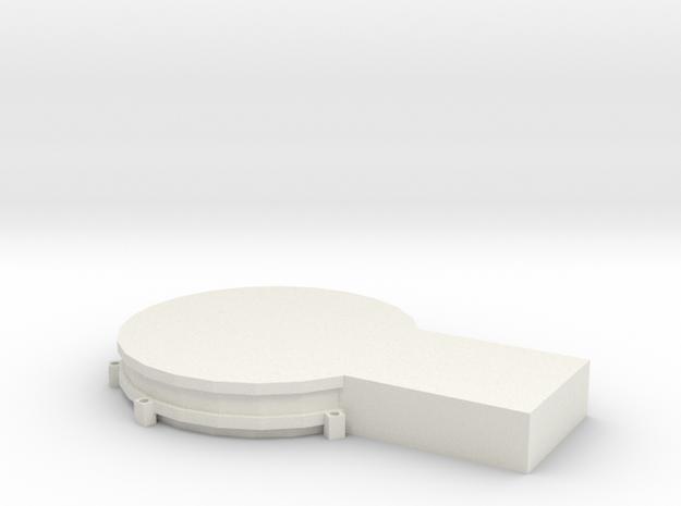 Circular Terminal - 8 Narrow Body Gates in White Natural Versatile Plastic: 1:400