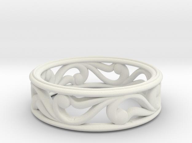 "Bracelet ""Move"" in White Natural Versatile Plastic: Small"