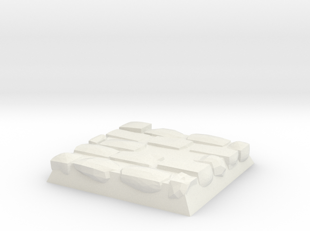 Cobble Stone Base in White Natural Versatile Plastic