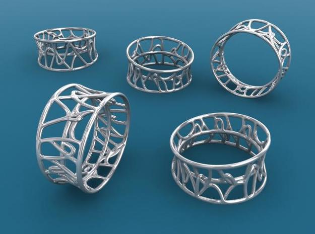 Arabesque ring 3d printed Silver render