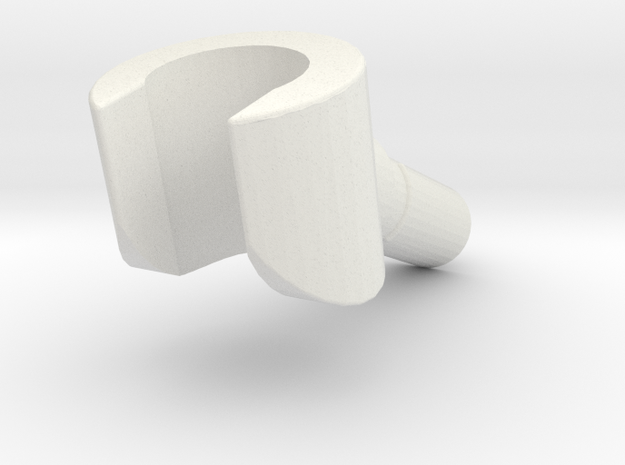 angled minifigure hand 2 in White Natural Versatile Plastic
