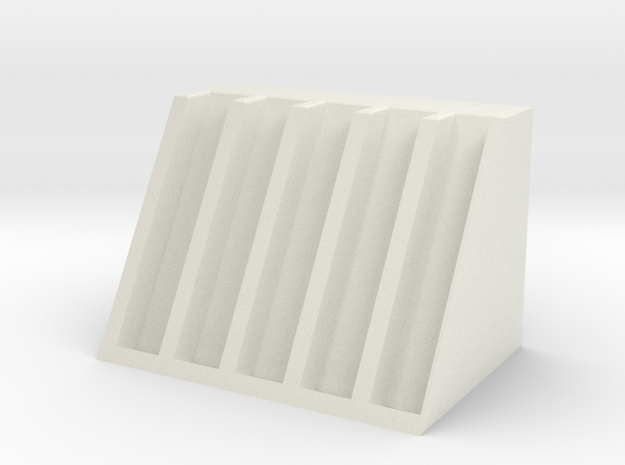 Modeling pen holder in White Natural Versatile Plastic