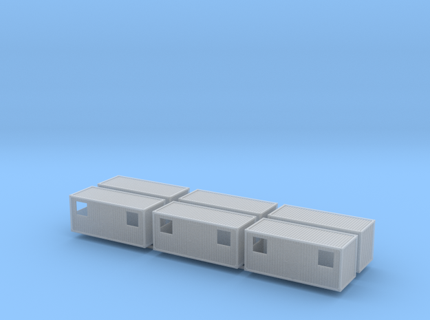 1:160 Wohncontainer residential container 6x in Smooth Fine Detail Plastic