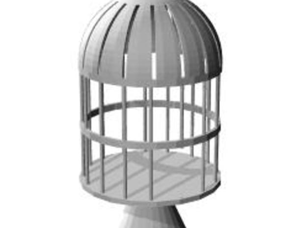 birdcage candle holder in Smooth Fine Detail Plastic