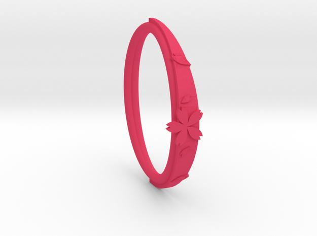 cherry blossoms bracelet in Pink Processed Versatile Plastic: Medium