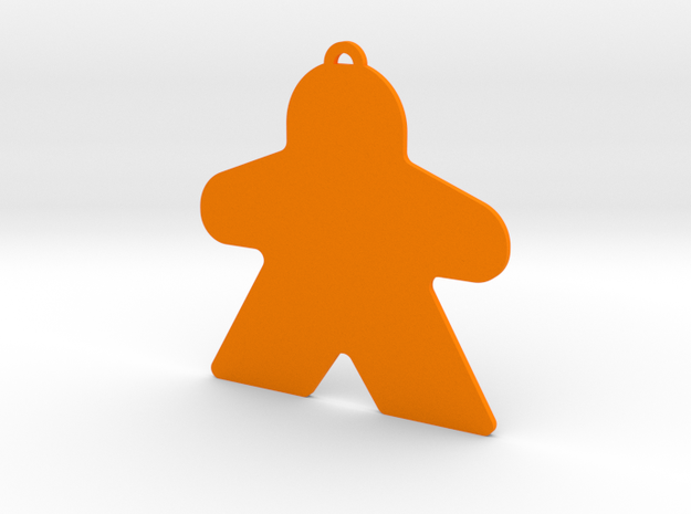 Meeple Ornament in Orange Processed Versatile Plastic