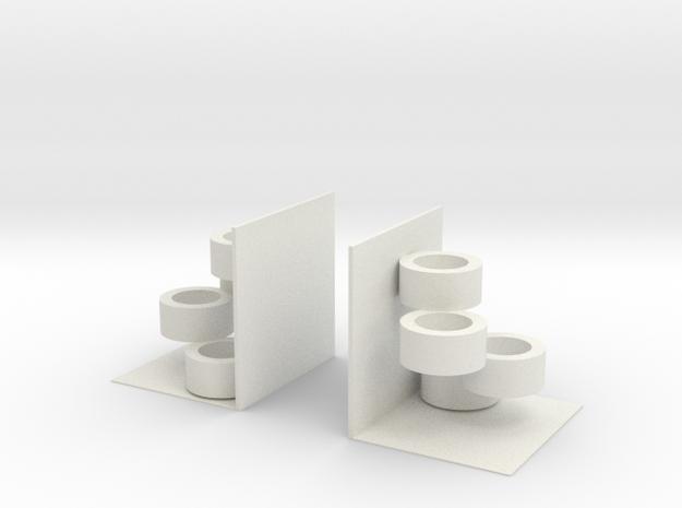 Potted book file in White Natural Versatile Plastic