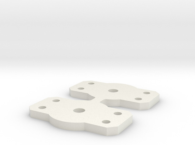 Flat Bolster for Walthers 2 axle trucks in White Natural Versatile Plastic