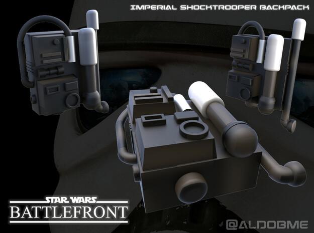 Star Wars Battlefront Backpack Shocktrooper in Black Natural Versatile Plastic