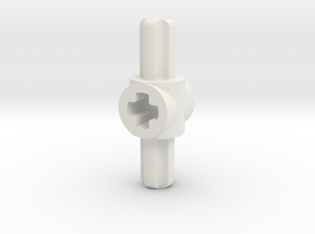 doube sided M to F axle connector in White Strong & Flexible