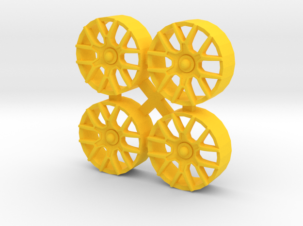 "Insert for wheel NSR 17"" (Type FERRARI GT3) in Yellow Processed Versatile Plastic"