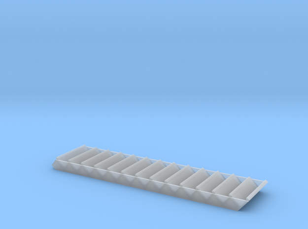 HO Scale 36 inch wide wood staircase in Smoothest Fine Detail Plastic
