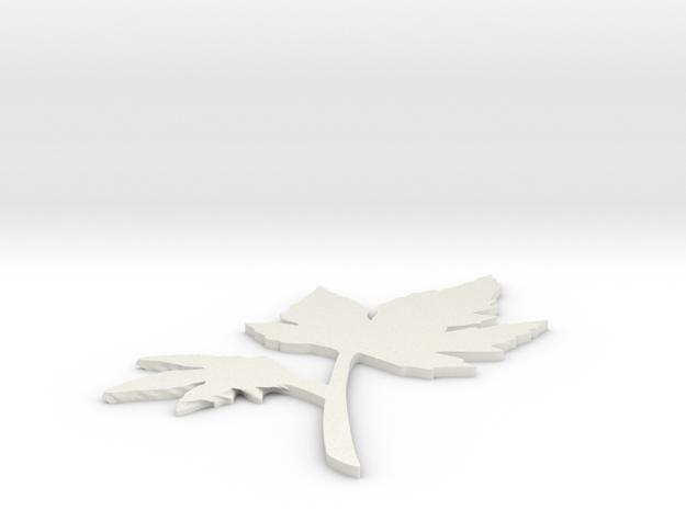 Maple sign in White Natural Versatile Plastic