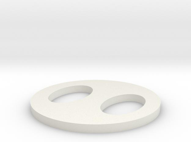 Pig nose coaster in White Natural Versatile Plastic