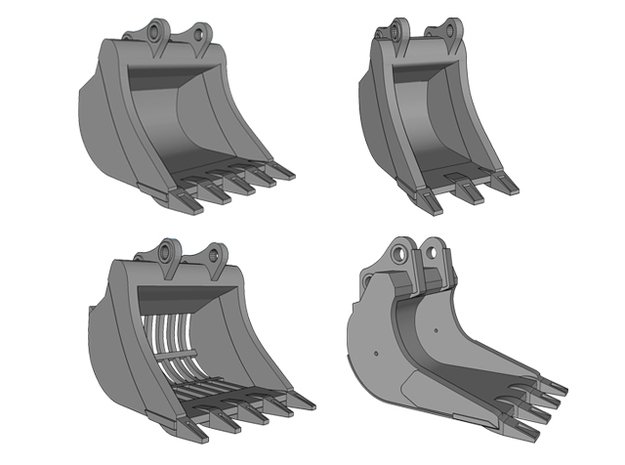 HO - Bucket Set nr.1 for 20-25t excavators