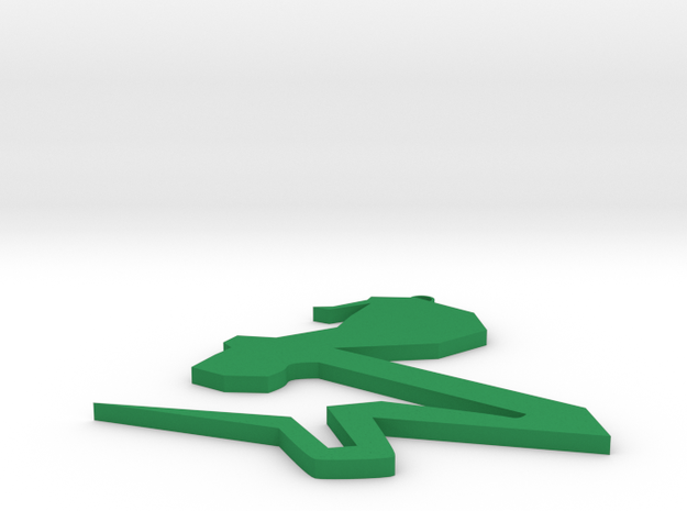 Snake chain in Green Processed Versatile Plastic: Medium