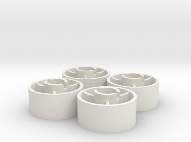 ass 4 jante avant D18,5 plat +1,5 in White Natural Versatile Plastic