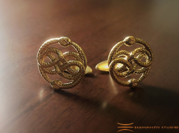 AURYN Cufflinks in Natural Brass