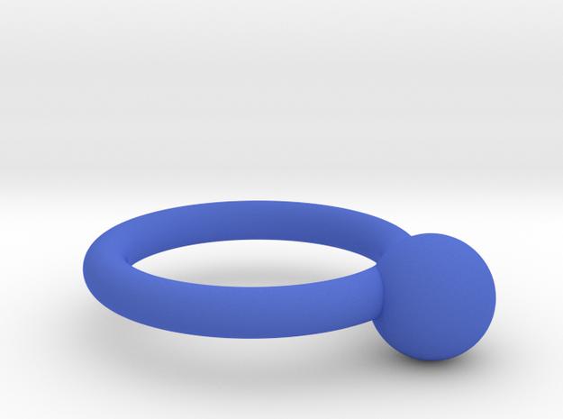 圓形.stl in Blue Processed Versatile Plastic