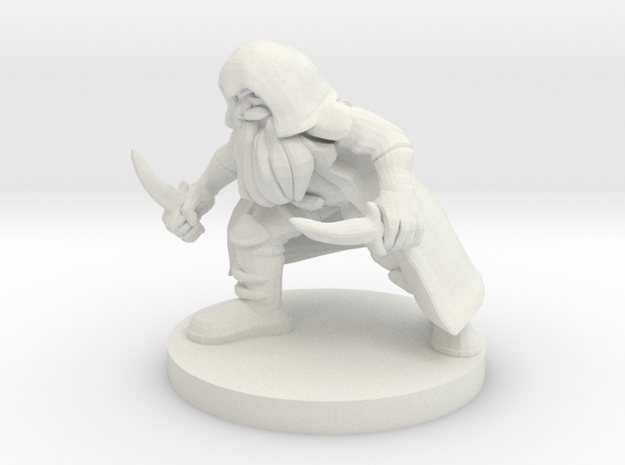 Dwarf Rogue in White Natural Versatile Plastic