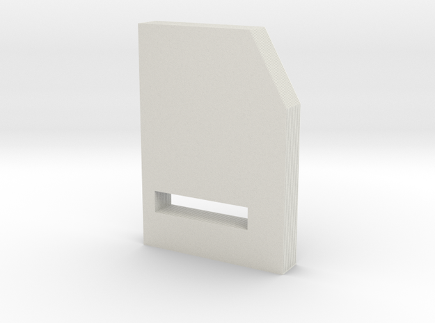 Folder in White Natural Versatile Plastic