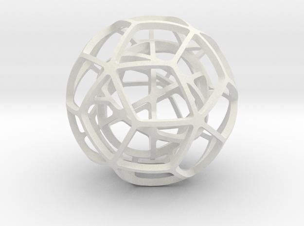 DUAL_PAIR_No.8 in White Natural Versatile Plastic