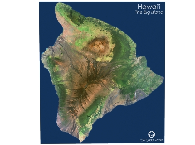 "Hawai'i, The Big Island: 9.25""x10.5"" in Full Color Sandstone"