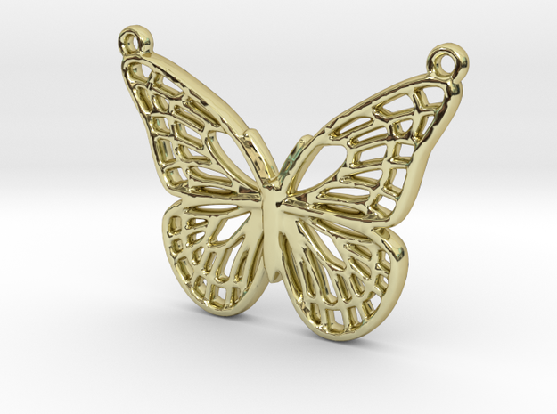 The butterfly in 18k Gold Plated Brass