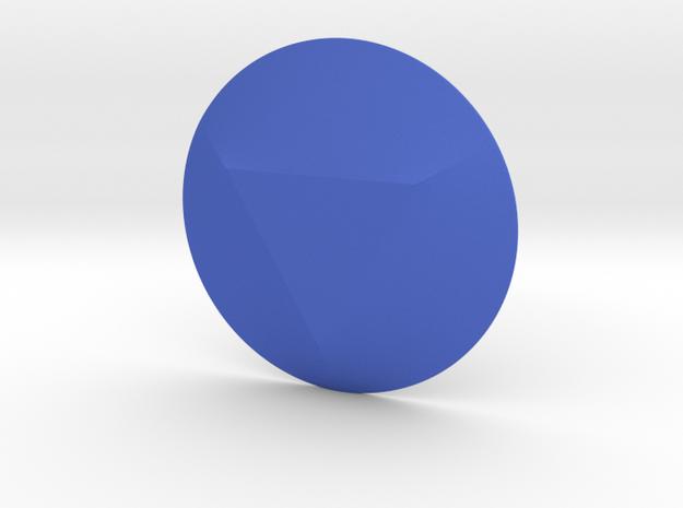 Triangle Gem in Blue Processed Versatile Plastic