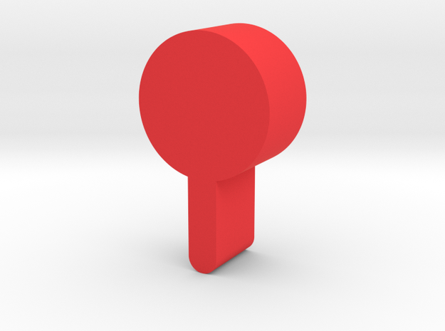 Lollipop Game Piece in Red Processed Versatile Plastic