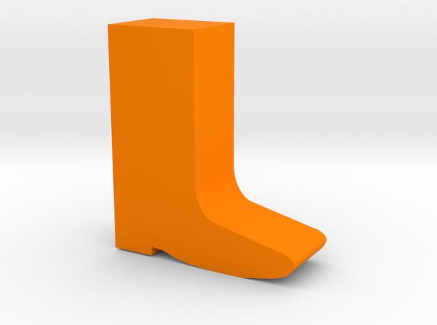Boot Game Piece in Orange Processed Versatile Plastic