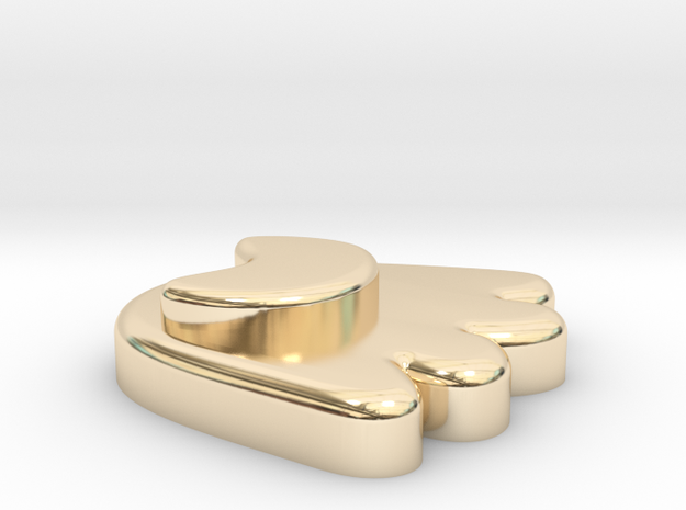 Courage of bear in 14k Gold Plated Brass
