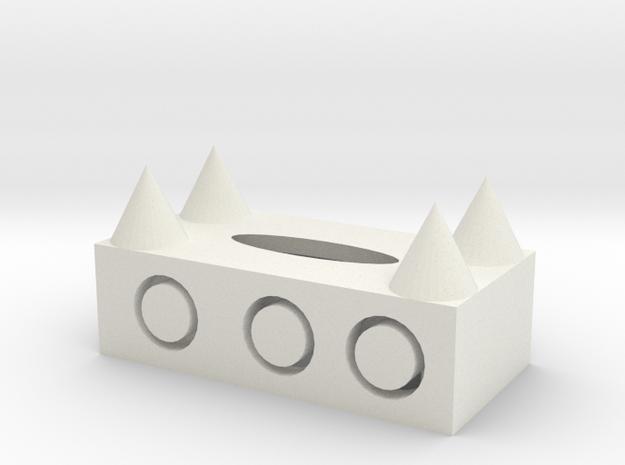 106102112 高旻瑞 衛生紙盒 in White Natural Versatile Plastic