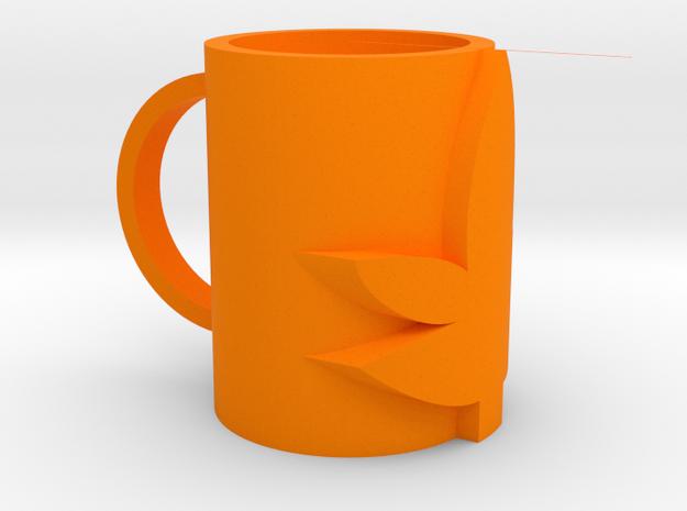 馬克杯.stl in Orange Processed Versatile Plastic