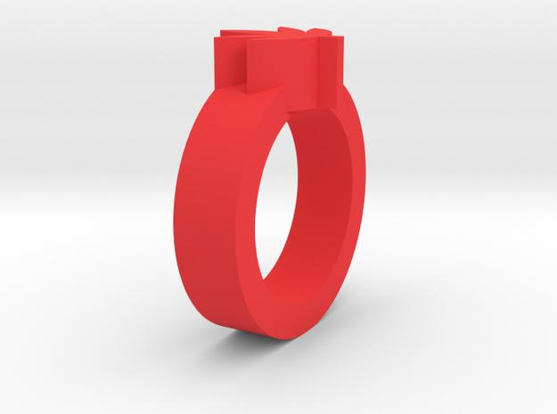 造型楓葉戒指.stl in Red Processed Versatile Plastic