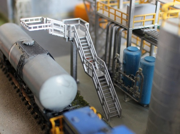 N Scale Tank Car loading Platform 1 in Smooth Fine Detail Plastic