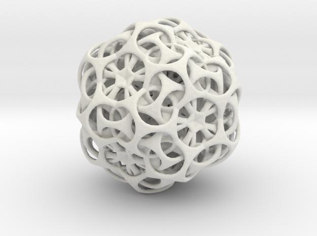 Dual-Ball in White Natural Versatile Plastic