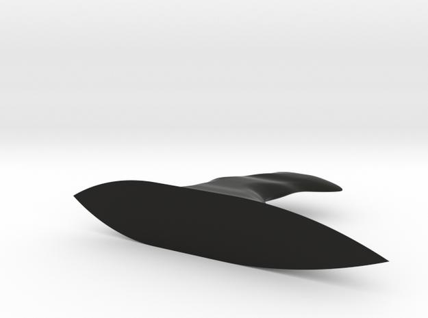 Fin Large in Black Natural Versatile Plastic: Large